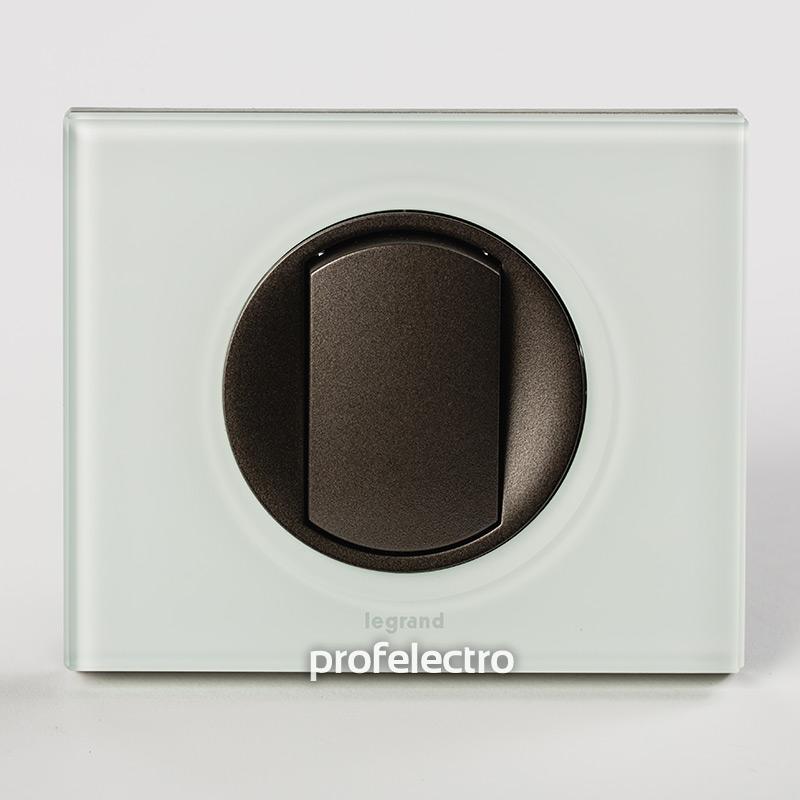 Рамка стеклянная цвет смальта белая глина-панель графит Celiane