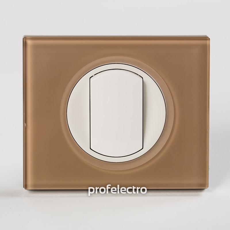 Рамка стеклянная цвет смальта мокка-панель белая Celiane