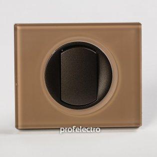Рамка стеклянная цвет смальта мокка-панель графит Celiane Legrand на profelectro.com.ua