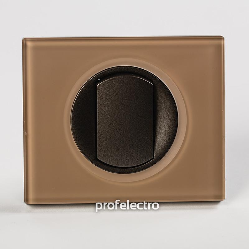 Рамка стеклянная цвет смальта мокка-панель графит Celiane