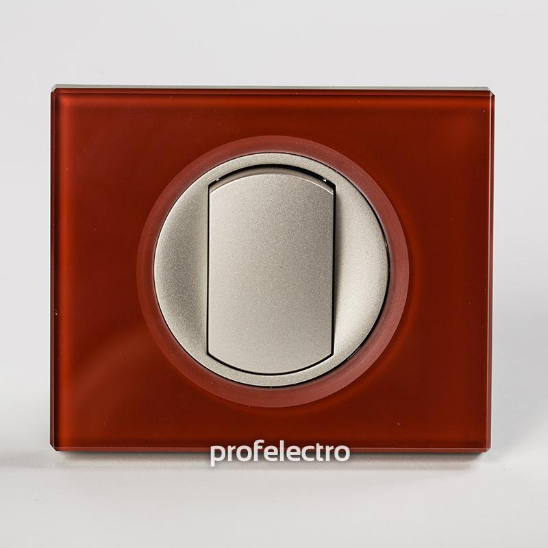 Рамка стеклянная цвет смальта кармин-панель титан Celiane
