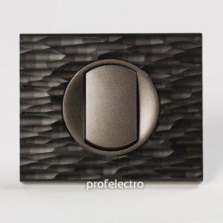 Рамка CORIAN черный рифленый-панель графит Celiane Legrand на profelectro.com.ua