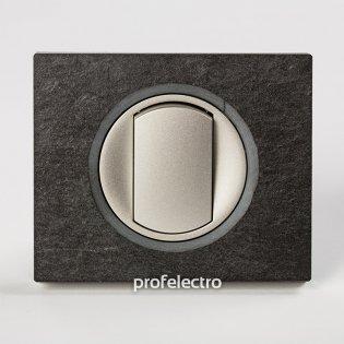 Рамка камень ардезия-панель титан Celiane Legrand на profelectro.com.ua