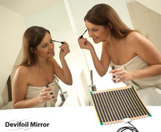 Пеленочный мат для подогрева зеркал в ванной комнате Devifoil™ Mirror