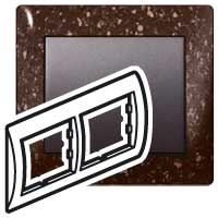 Рамка Galea™ Life Legrand серия Камень, цвет Cocoa Brown