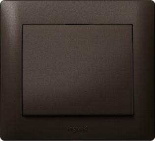 Выключатель одноклавишный, цвет темная бронза