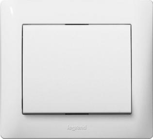Выключатель одноклавишный, цвет белый