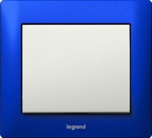 Фото Выключатель одноклавишный Legrand Galea Life c рамкой Magic Blue