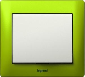 Фото Выключатель одноклавишный Legrand Galea Life c рамкой Magic Green