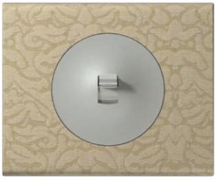 Фото Выключатель с рычажком Legrand Celiane с рамкой Текстиль орнамент