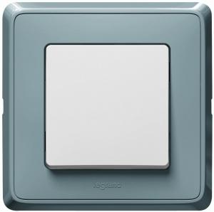 Одноклавишный выключатель Legrand™ Cariva цвет рамки Жемчужно-серый