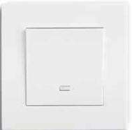 Одноклавишный выключатель Gusi Electric City белый