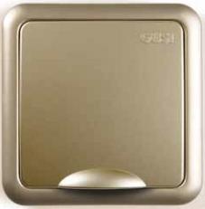 Розетка Gusi Electric City Матовое золото