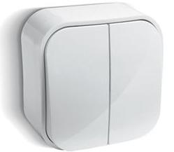 Выключатель двухклавишный Legrand Quteo™, белый