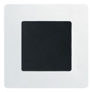 Фото Рамка выключателя Legrand Etika (цвет белый), механизм с накладкой (цвет антрацит)