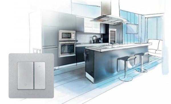 Выключатель Legrand Etika в интерьере кухни