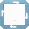 Выключатель одноклавишный проходной (универсальный) с подсветкой (зеленая лампочка) 10 А, 250 В~