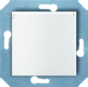 Розетка с заземляющим контактом, защитными шторками для защиты детей и крышкой (откидной) 16 А, 250 В~