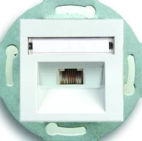 Розетка телефонная один выход RJ11 (4 контакта), механизм Rutenbeck/FMT (Германия)