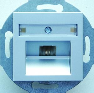 Фото Розетка телефонная один выход RJ11 (4 контакта), механизм Rutenbeck/FMT (Германия)