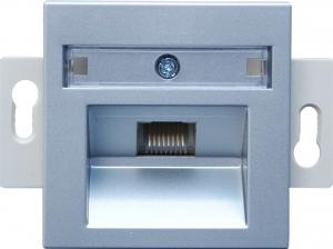 Розетка информационная один выход RJ45 UTP (8 контактов), категория 5е - монтаж на винтах, механизм Rutenbeck/FMT (Германия)