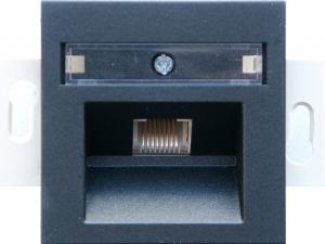 Фото Розетка информационная один выход RJ45 UTP (8 контактов), категория 5е - монтаж на винтах, механизм Rutenbeck/FMT (Германия)