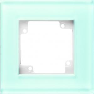 Фото Рамки стеклянные цвет белое стекло 1—4 поста