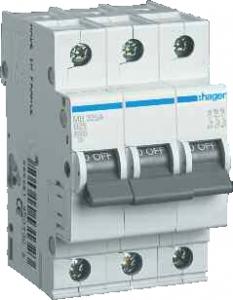 Фото Автоматические выключатели трехполюсные 6 кА Hager тип В