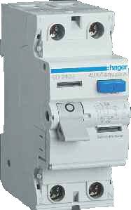 Устройства защитного отключения двухполюсные Hager тип АС