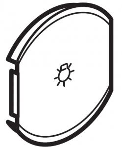Лицевая панель одноклавишная Освещение