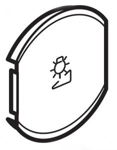 Фото Лицевая панель одноклавишная Светорегулятор