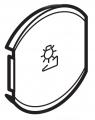 Лицевая панель одноклавишная Светорегулятор