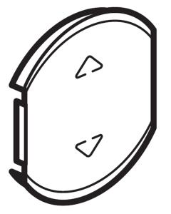 Фото Лицевая панель одноклавишная для приводов жалюзи/рольставней