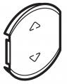 Лицевая панель одноклавишная для приводов жалюзи/рольставней
