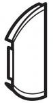 Лицевая панель двухклавишная без маркировки левая или правая