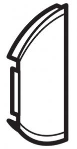 Фото Лицевая панель двухклавишная без маркировки левая или правая