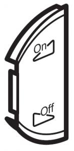 Фото Лицевая панель двухклавишная Освещение или звуковая трансляция, левая