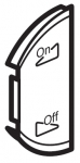 Лицевая панель двухклавишная Освещение или звуковая трансляция, левая