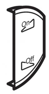 Лицевая панель двухклавишная Освещение или звуковая трансляция, правая
