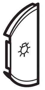 Фото Лицевая панель двухклавишная Освещение, левая