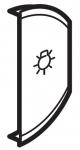 Лицевая панель двухклавишная Освещение, правая