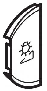 Лицевая панель двухклавишная Светорегулятор, левая