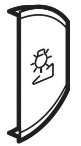 Фото Лицевая панель двухклавишная Светорегулятор, правая