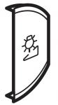 Лицевая панель двухклавишная Светорегулятор, правая