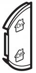 Лицевая панель двухклавишная GEN/ON/OFF, левая