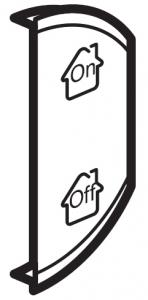 Лицевая панель двухклавишная GEN/ON/OFF, правая