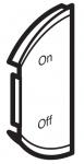 Лицевая панель двухклавишная ON/OFF, левая