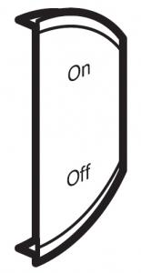 Лицевая панель двухклавишная ON/OFF, правая