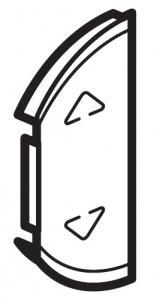 Лицевая панель двухклавишная для приводов жалюзи/рольставней, левая или правая