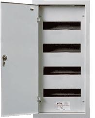 Встраиваемый металлический щиток с замком на 48 (4х12) модулей